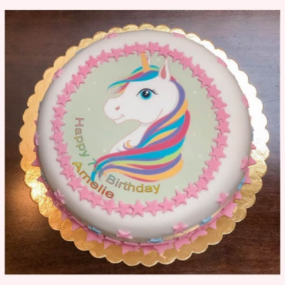 10 inch Personalised Gluten Free Birthday Cake